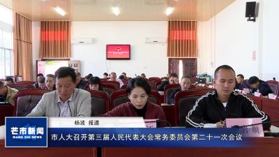 市人大召开第三届人民代表大会常务委员会第二十一次会议