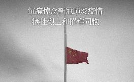 这一天,我们举国哀悼