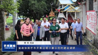 省政协到芒市开展边境小康示范村建设调研