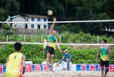 """云南省青少年U系列沙滩排球锦标赛在芒市""""天空之岛""""开赛"""