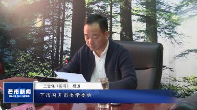 【视频】芒市召开市委常委会