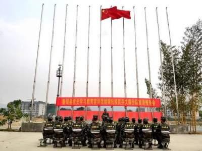 云南鲁甸县支援瑞丽民兵:让党史学习教育走进抗疫一线
