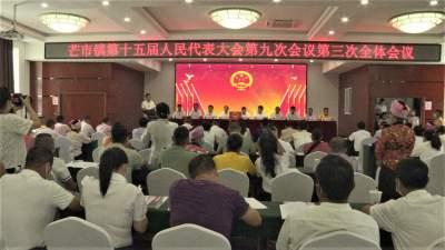 芒市镇召开第十五届人民代表大会第九次会议