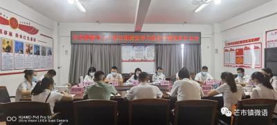芒市镇青年人才党支部召开党史学习教育专题组织生活会