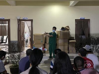 我为群众办实事丨三台山乡对格瑞医疗废物处置场员工开展个人防护相关培训