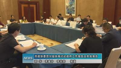 市政协委员分组协商讨论政府工作报告及其他报告