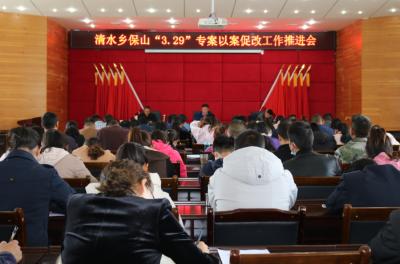 """清水乡召开保山""""3.29""""专案以案促改工作推进会"""