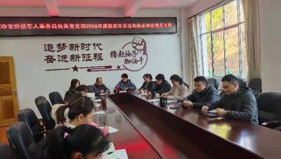 腾冲市退役军人事务局党支部召开组织生活会