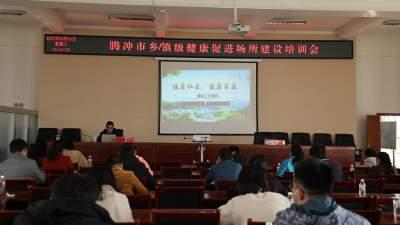 腾冲市召开乡(镇)级健康促进场所建设工作培训会