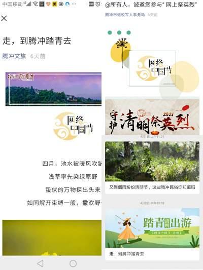 """腾冲市委网信办组织开展""""网络中国节·清明""""系列主题活动"""