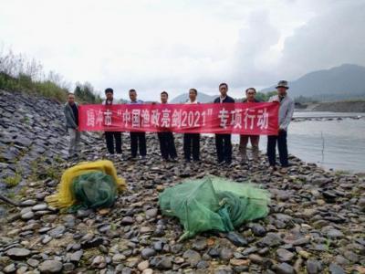 明光镇开展渔政执法专项行动