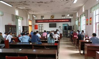 蒲川乡清河社区启动干部规划家乡行动