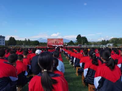 曲石中学举行2021年开学典礼暨拜师仪式