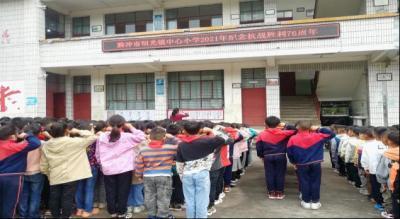 明光镇中心小学开展抗战胜利纪念日系列活动