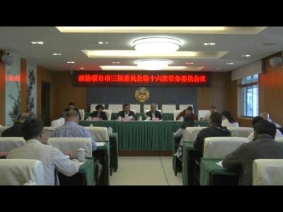 市政协三届常委会召开第十六次会议