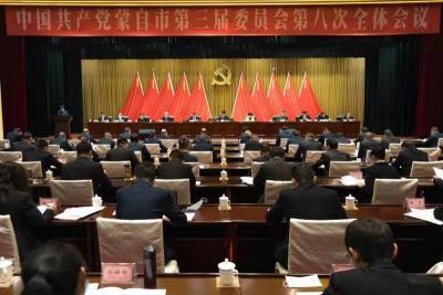 中国共产党蒙自市第三届委员会第八次全体会议举行