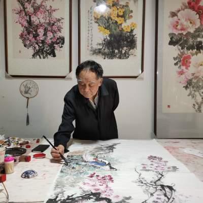 王纯生:七十载泼墨画斑斓百年画卷献给党