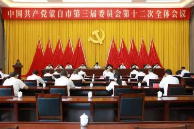 中国共产党蒙自市第三届委员会第十二次全体会议召开