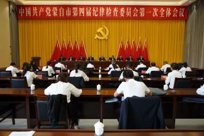 中国共产党蒙自市第四届纪律检查委员会第一次全体会议召开