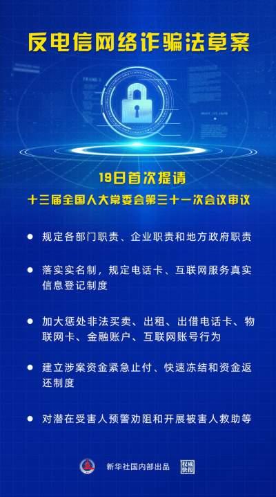 权威快报丨反电信网络诈骗法草案首次提请审议