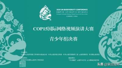 COP15国际网络视频演讲大赛青少年组决赛在昆明举办