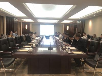 赵刚与中国驻缅大使馆商务参赞谭书富举行会谈