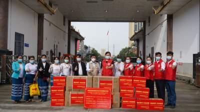 【胞波携手·共抗疫情】瑞丽市委宣传部捐赠缅甸木姐地区第三批防疫物资