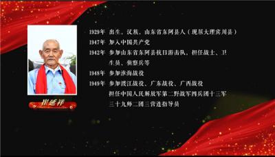 【红色档案·述说云南】老兵崔延祥:12岁参军抗日,渡江战役中站在第一船