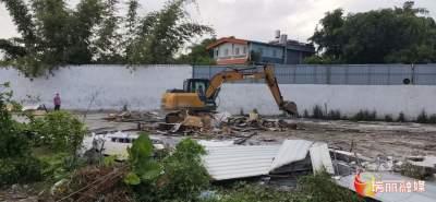 【提升人居环境·建设美丽瑞丽】瑞丽拆除一5120平方米违法建筑