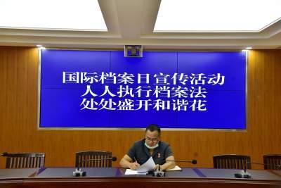 """陇川法院开展""""国际档案日""""宣传活动"""