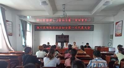 """陇川农场全面开展社区妇代会改建妇联(即""""会改联"""")换届选举工作"""