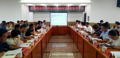 陇川县委理论学习中心组举行2020年第6次集中学习