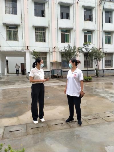县委常委、统战部部长白珊珊到疾控中心督查疫情防控工作