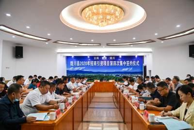11.44亿元!陇川招商引资项目第四次集中签约