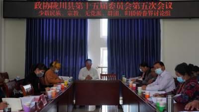 参加县政协第十五届五次会议的委员继续分组讨论