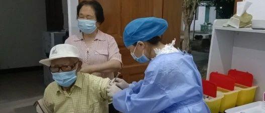 景罕镇疫苗接种暖心故事之高龄老人毅然接种疫苗
