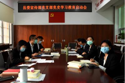 县委宣传部党支部召开党史学习教育启动会