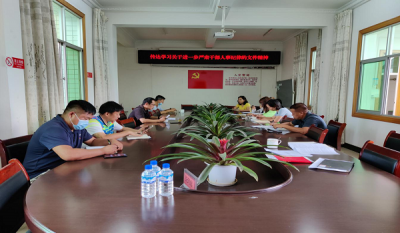陇川县工业和商务科技局召开干部作风建设问题整改启动会