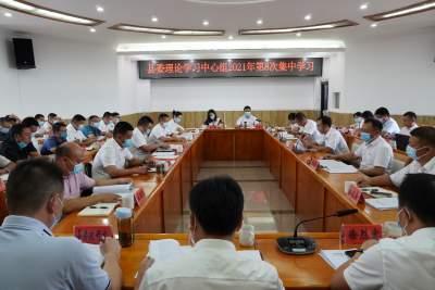陇川县委理论学习中心组举行2021年第8次集中学习