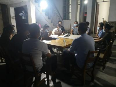 陇川县人民检察院第10网格化片区临时党支部召开第四次疫情防控工作会