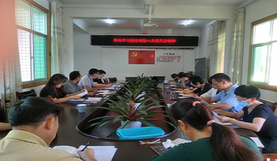 陇川县工业和商务科技局召开干部职工理论学习会