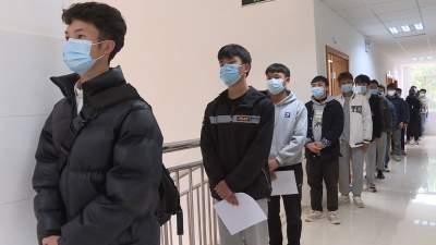 征兵体检首日:丘北热血青年正接受祖国挑选!