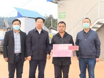 黄家和、杨文才、杨万林看望慰问春节值班人员
