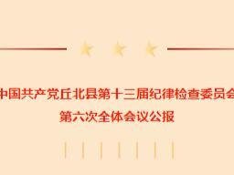 中共丘北县纪委十三届六次全会会议公报