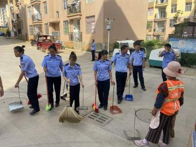 丘北县公安局积极开展爱国卫生大扫除活动
