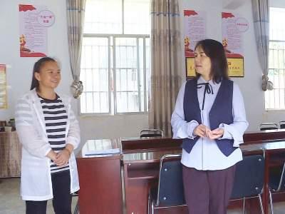 段雪莲到平寨乡调研新时代文明实践建设工作