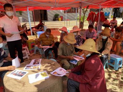 丘北县曰者镇组织开展第34个世界无烟日科普宣传活动