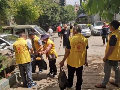 丘北县人大常委会机关深入网格区开展共建美好家园志愿服务活动