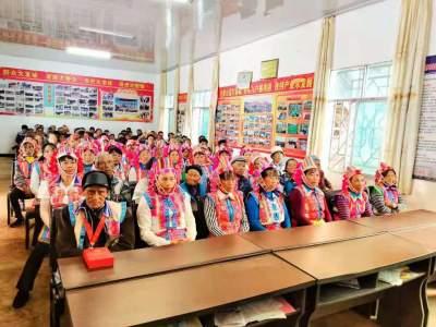 今天,丘北六湾坡僰人群众欢聚一堂 共庆节日!
