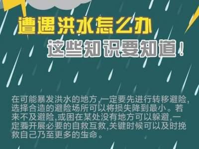 警方提示 | 遭遇洪水怎么办?这些知识要知道